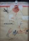 N.KAVURIĆ KURTOVIĆ, Htjela je biti meka u svojoj boli..., 1989.  ulje-platno kaširano na dasci 110×74.5cm sig.: NIVES KK 89.